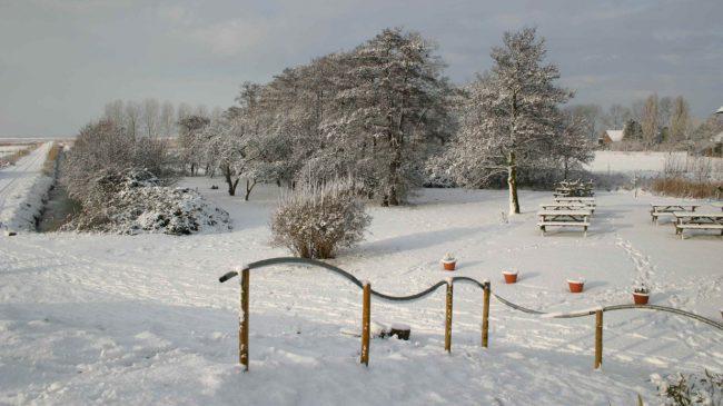 Tiengemeten winter sneeuw