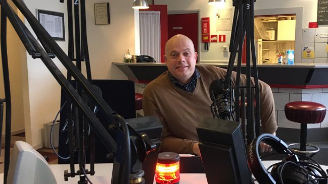 Mark de Koning in de studio